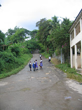On the way to school