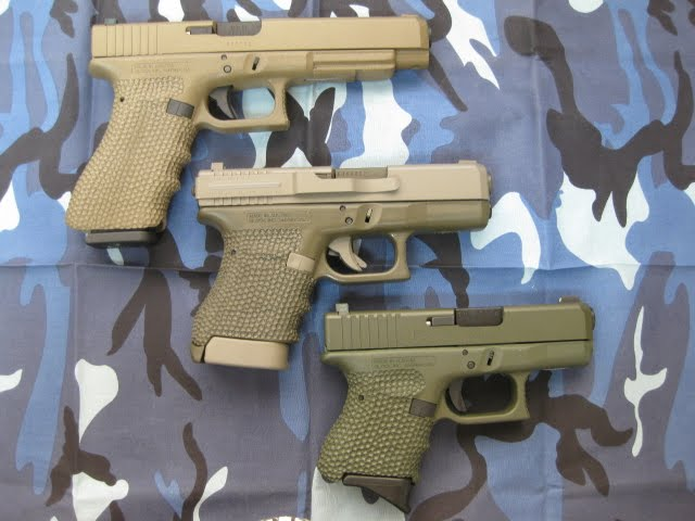 3 Earth tone Customized Glocks