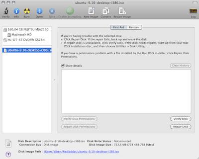 cd mac 01 medium Gravação do CD, Criação do disco de Instalação USB e Instalação do Ubuntu