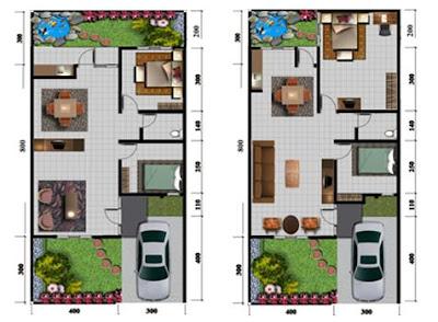 rudy dewanto: menambah ruang pada rumah type 50 - 60