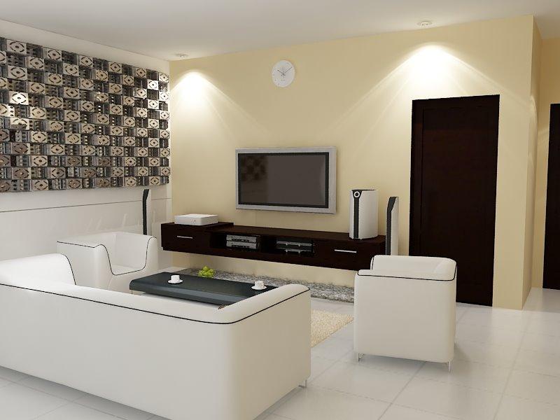 desain ruang nonton tv minimalis