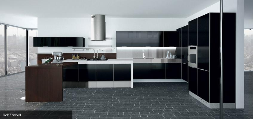 Rudy dewanto dapur futuristic everlasting maskulin for Kitchen set hitam putih
