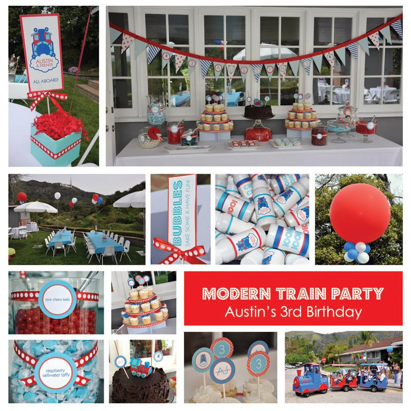 Choo Choo A Train Theme Birthday Party guest Feature Celebrations At Home