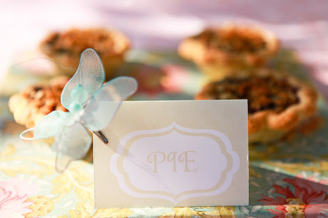 butterfly food label card