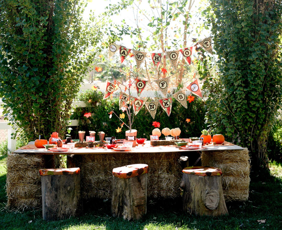 Autumn party for kids celebrations at home - Decoracion fiesta jardin ...