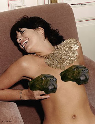 Lily Allen topless. Naked C-List