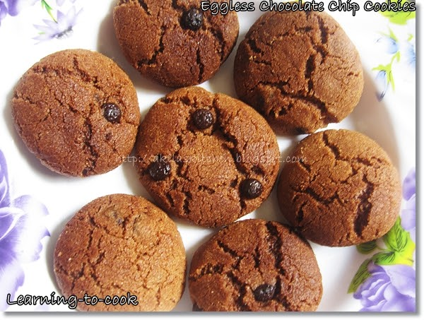 Eggless Chocolate Chip Cookies Recipe Microwave