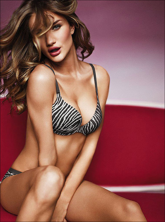 rosie huntington sizzles in bikini