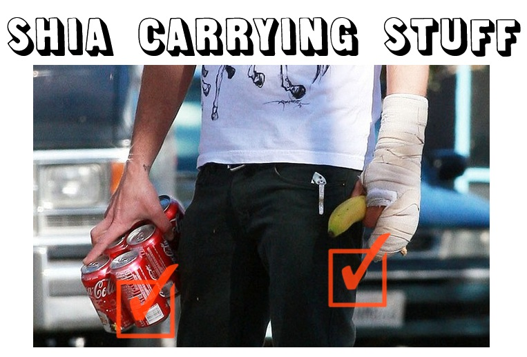 Shia Carrying Stuff
