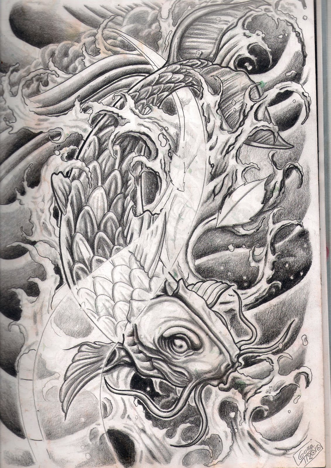 dibujos pez koi: