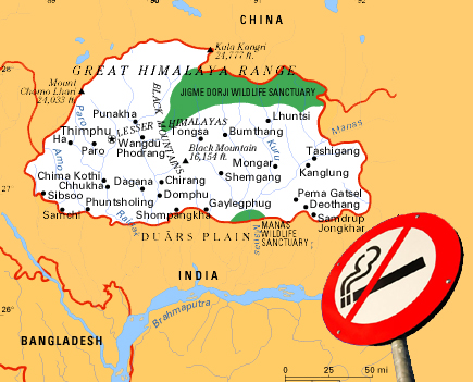 essay on tobacco ban in bhutan Last week the new york times reported on the himalayan kingdom of bhutan's  war on cigarette smokers back in 2005 bhutan banned the.