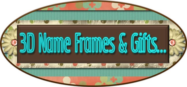 3D Name Frames & Gifts
