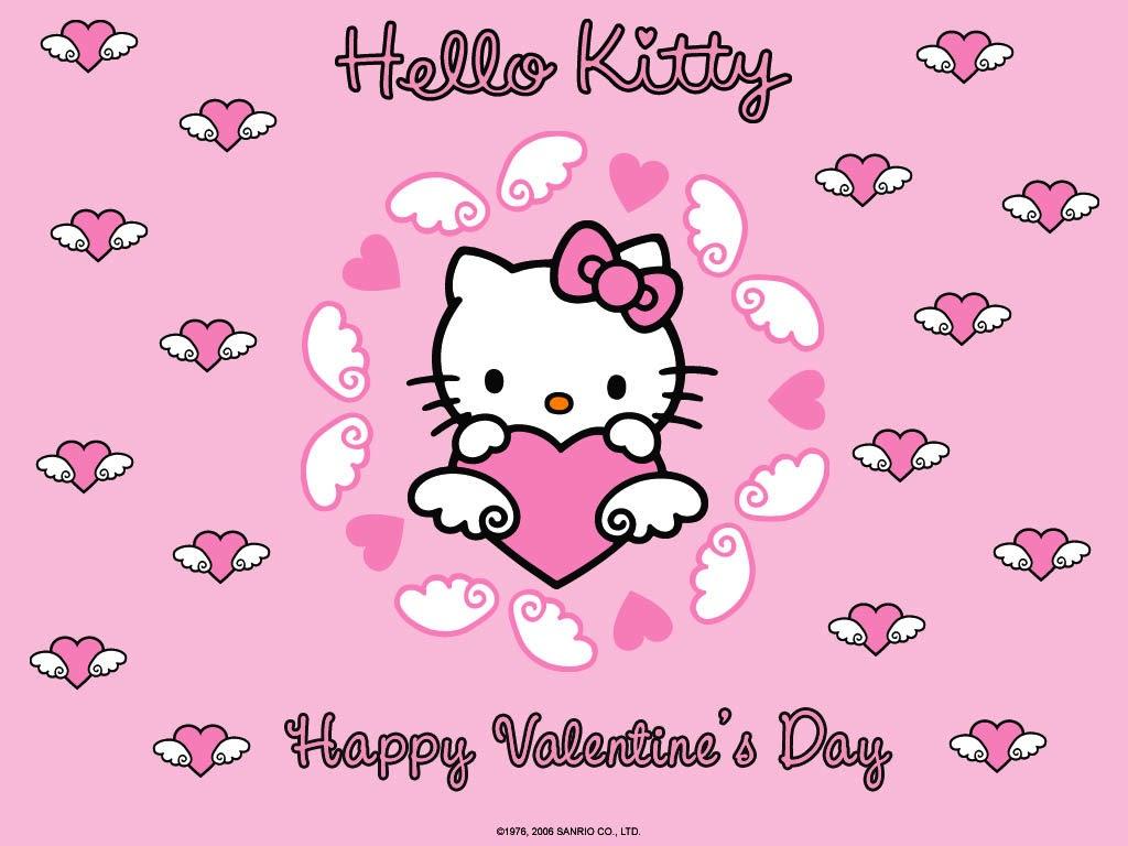 Hello Kitty Valentine Wallpaper 2017 Grasscloth Wallpaper