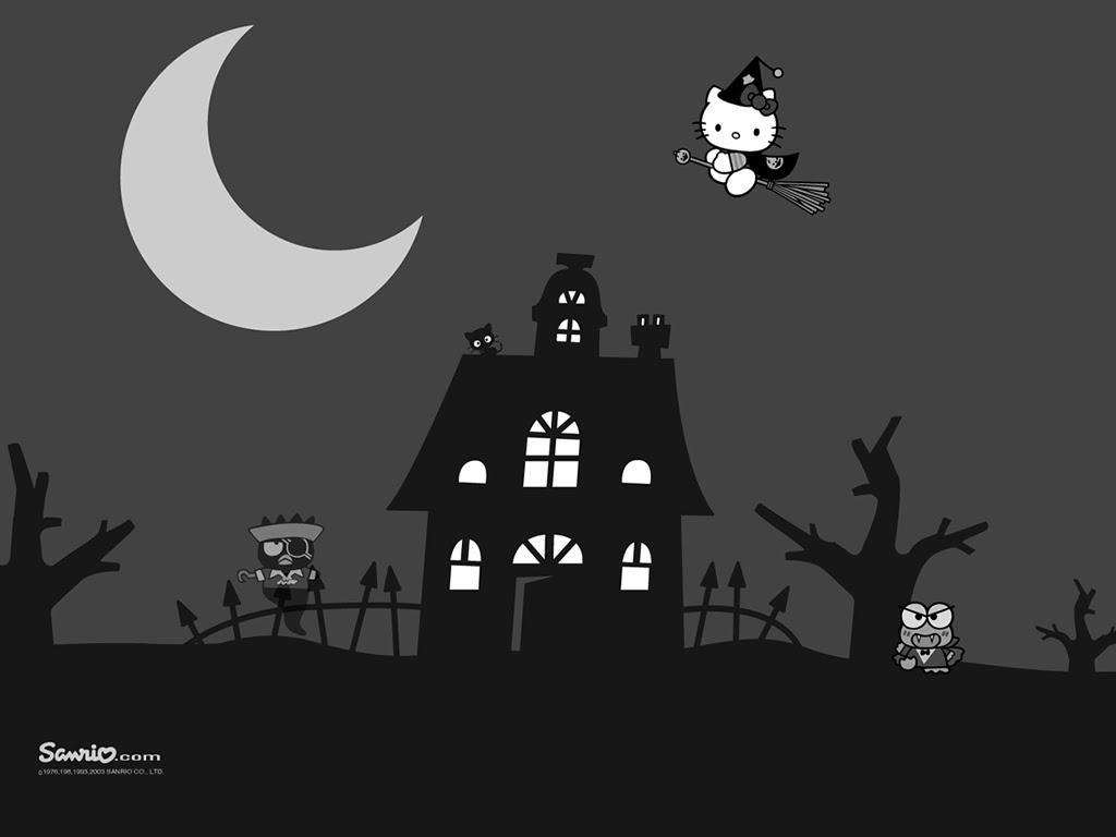 Mimmy And Hello Kitty Wallpaper Hello Kitty Dark