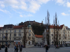 Ljubljana Castle from Preseren Square