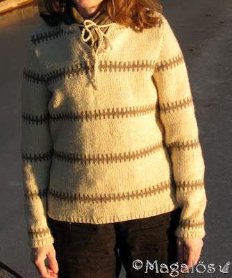 Min underbart sköna Pippi-tröja i ECO-ull.