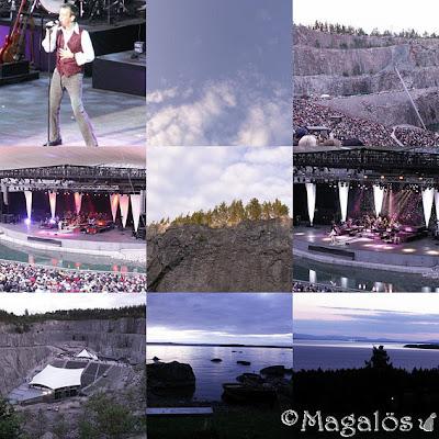 Collage från fredagens konsert i Dalhalla.