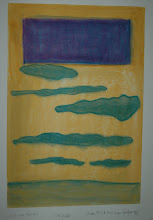 Just Over That Hill oil pastel