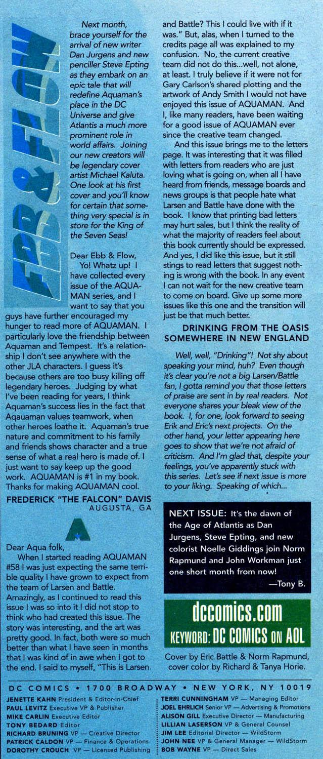 Aquaman (1994) Issue #62 #68 - English 24