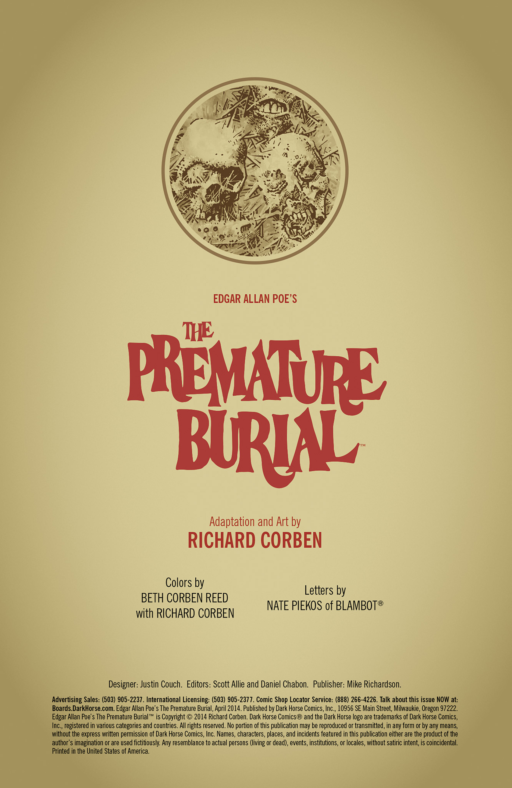 edgar allan poes the premature burial The premature burial is a horror short story on the theme of being buried alive, written by edgar allan poe (1809–1849), and published in 1844 in the philadelphia dollar.