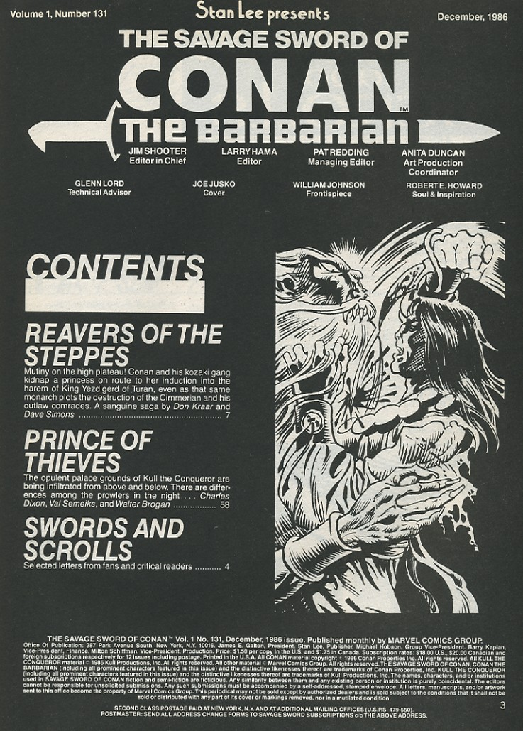 The Savage Sword Of Conan Issue #131 #132 - English 3