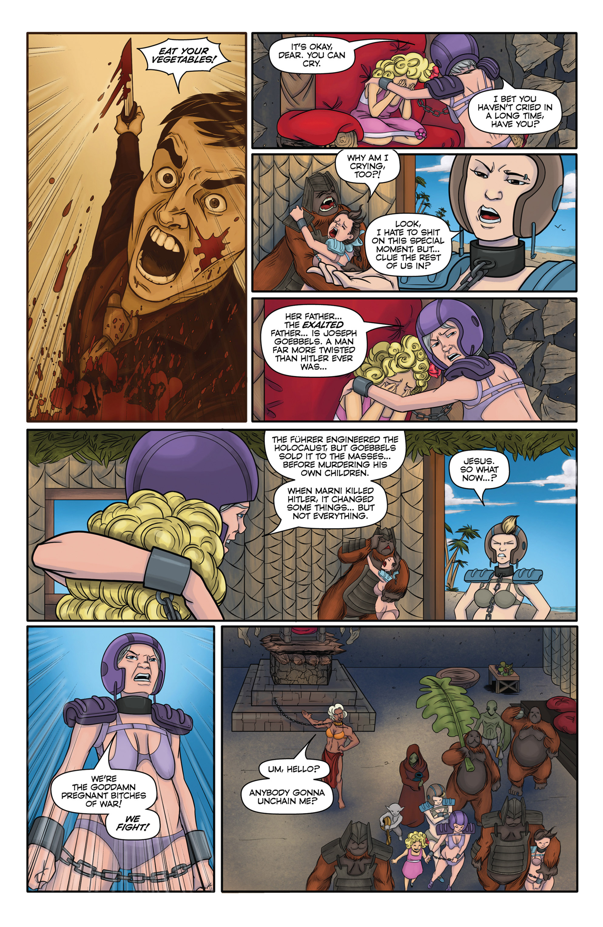 Read online Pregnant Bitches of War comic -  Issue #5 - 21
