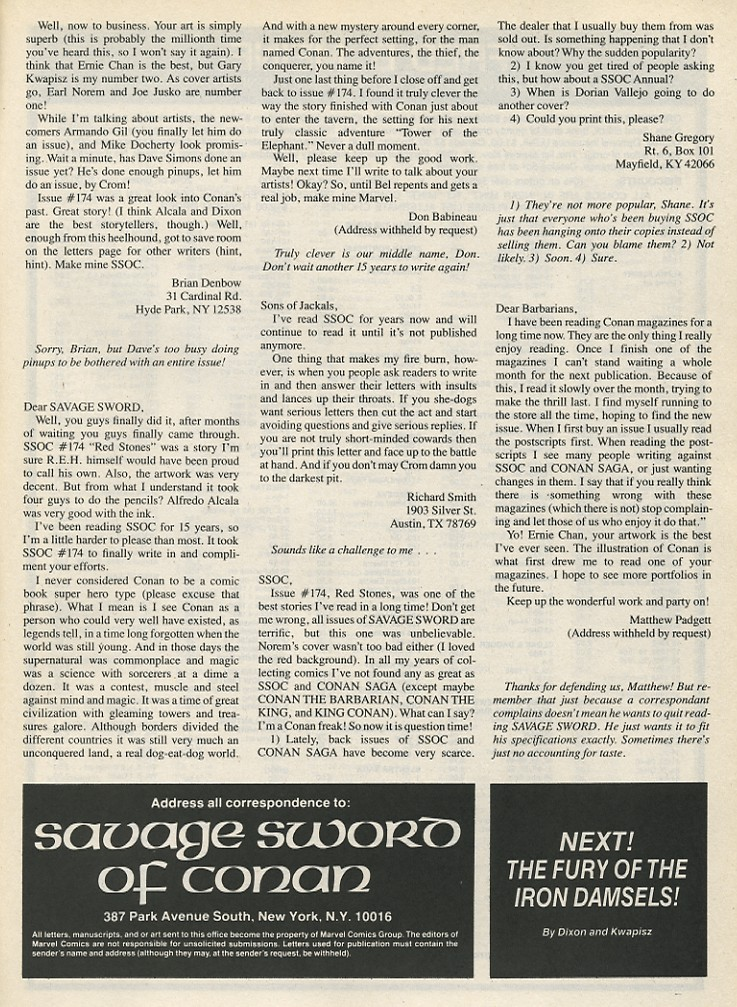 The Savage Sword Of Conan Issue #178 #179 - English 65