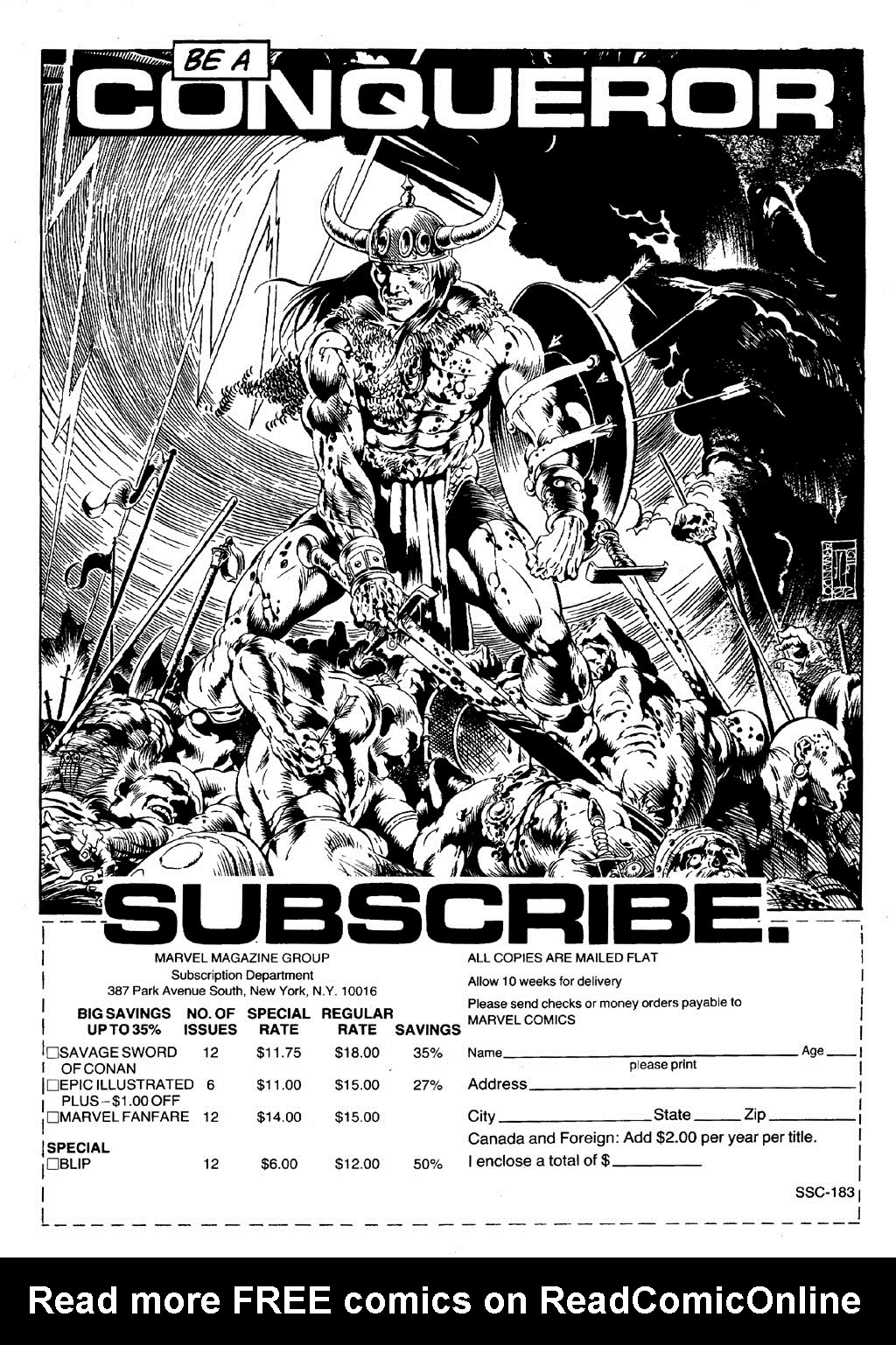 The Savage Sword Of Conan Issue #86 #87 - English 2
