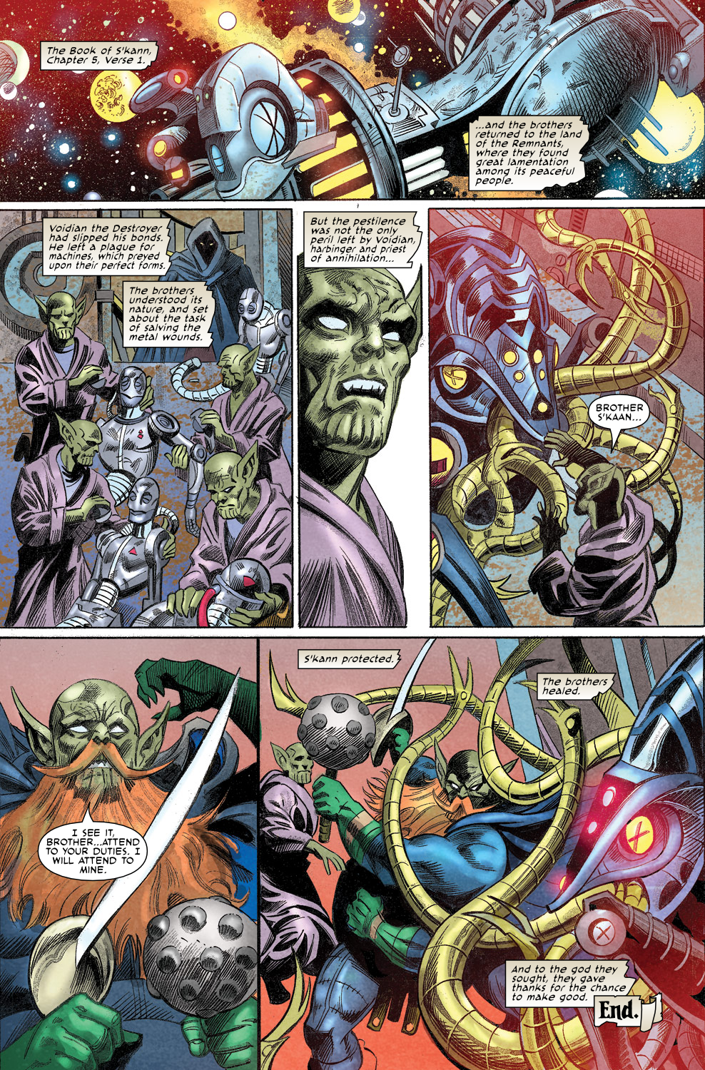 Read online Secret Invasion Aftermath: Beta Ray Bill - The Green of Eden comic -  Issue # Full - 32