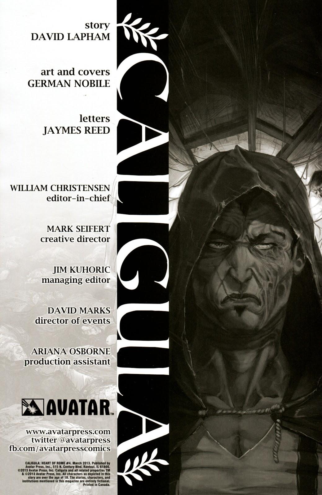Caligula: Heart of Rome Issue #4 #4 - English 2