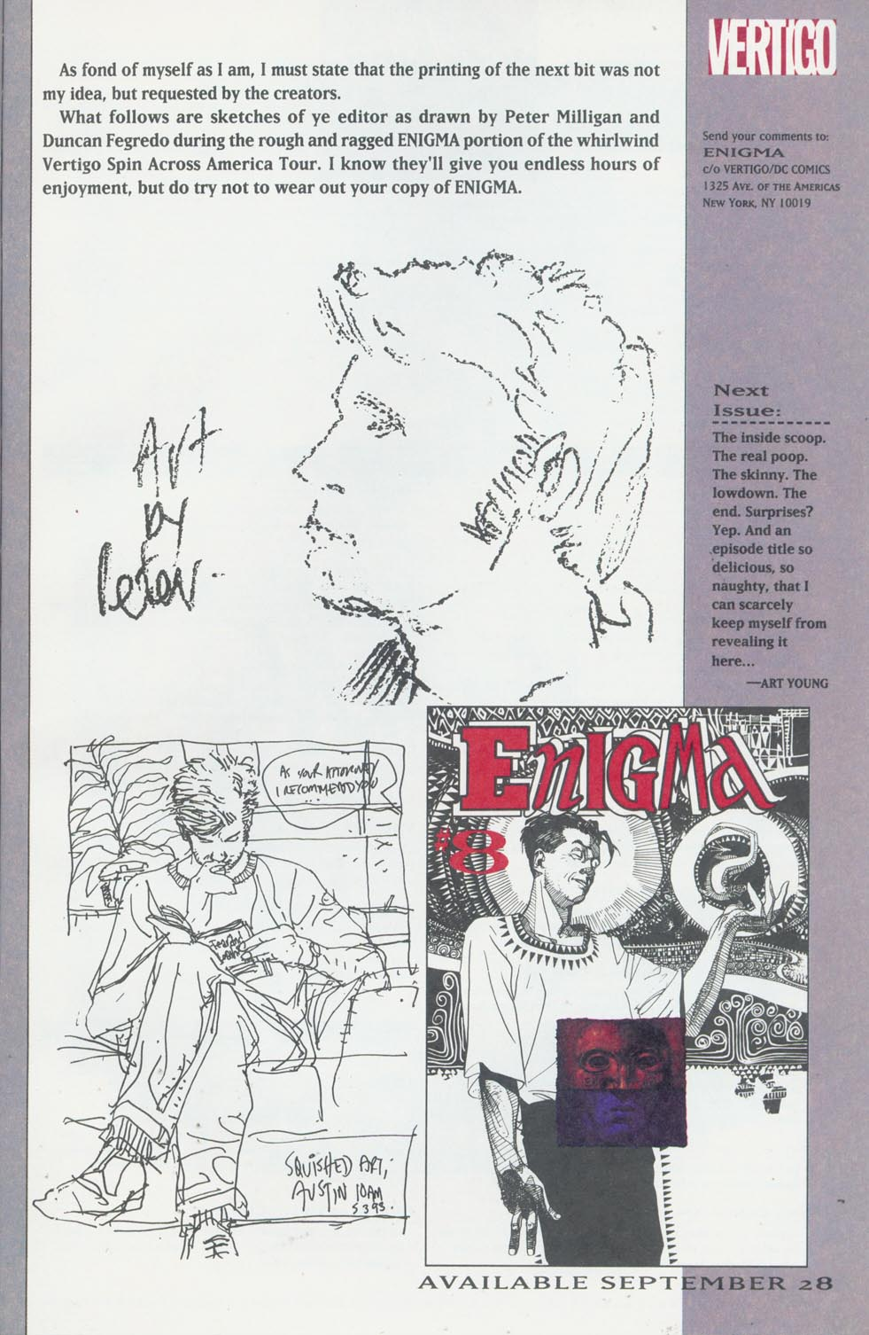 Read online Enigma comic -  Issue #7 - 28