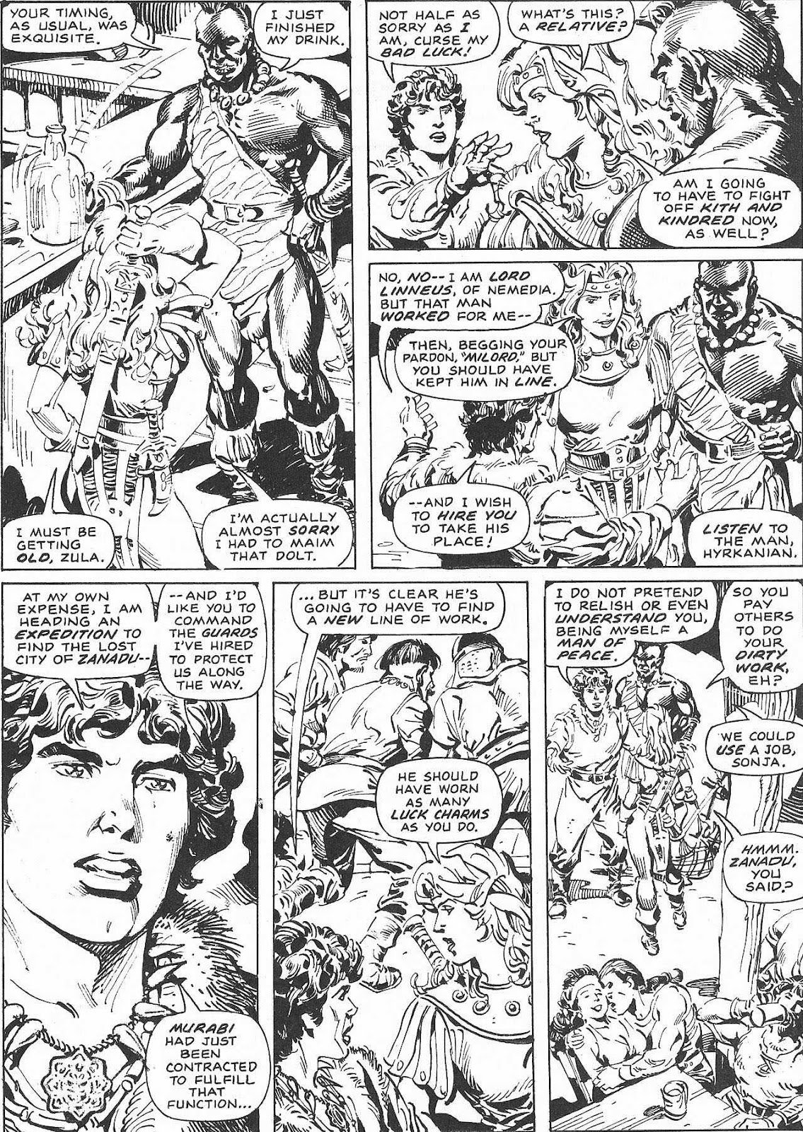 The Savage Sword Of Conan Issue #207 #208 - English 62