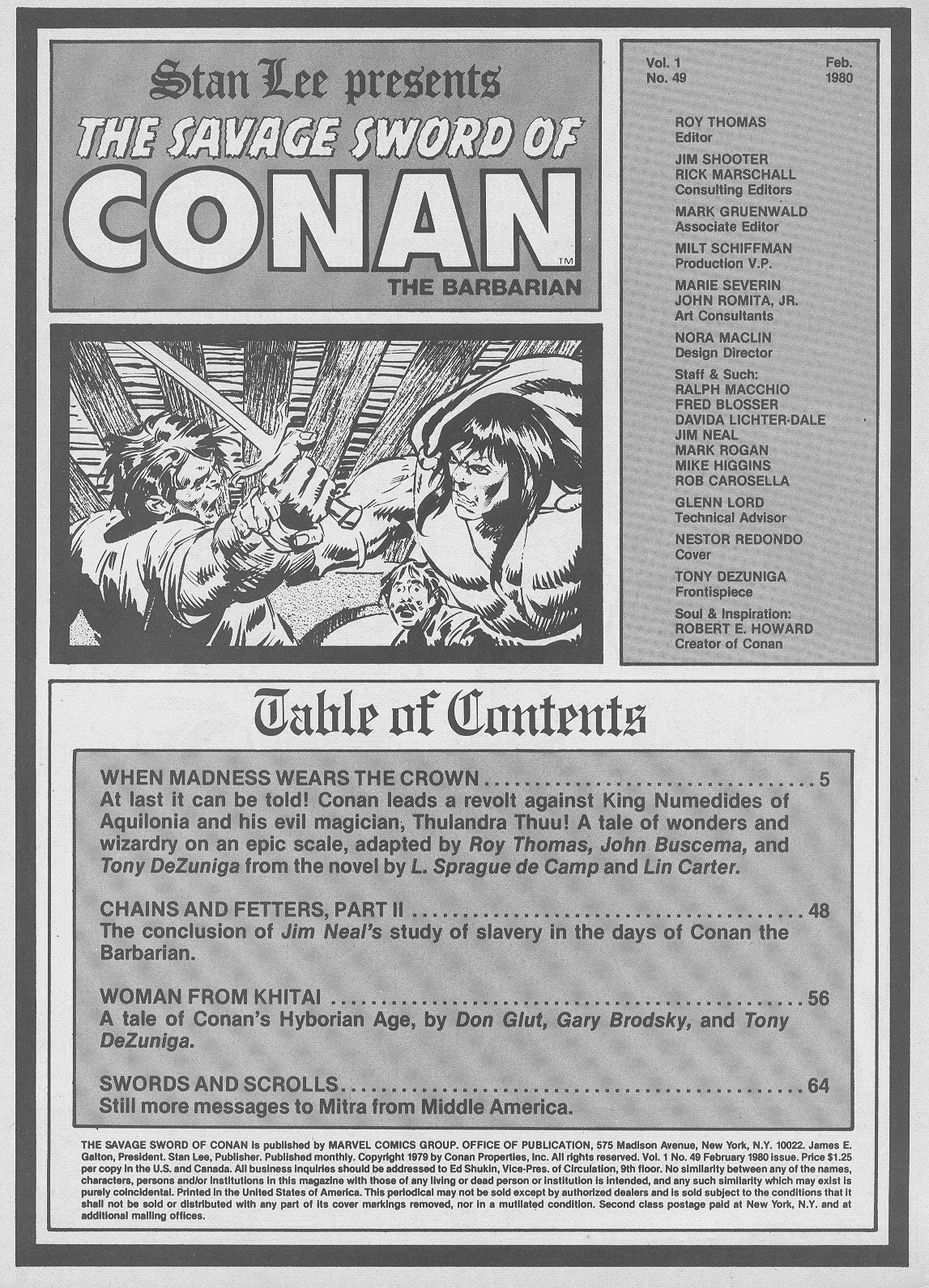 The Savage Sword Of Conan Issue #49 #50 - English 3