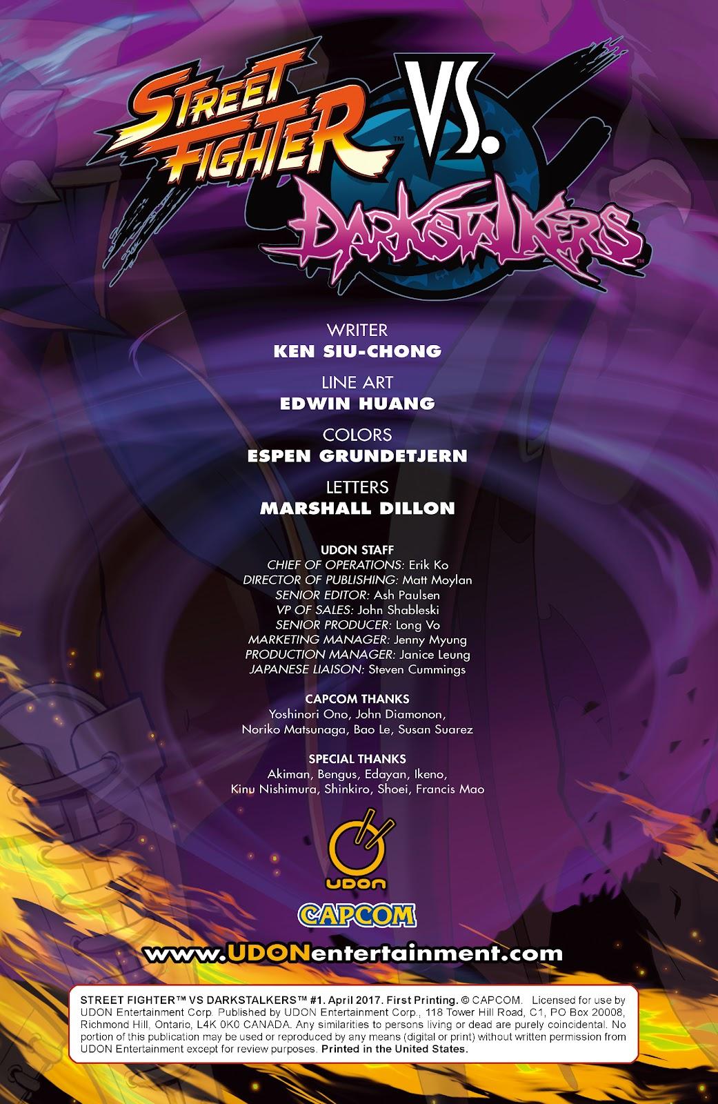 Street Fighter VS Darkstalkers Issue #1 #2 - English 2