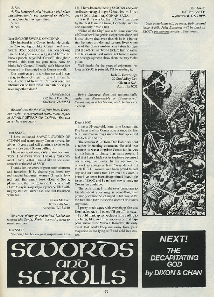 The Savage Sword Of Conan Issue #182 #183 - English 65