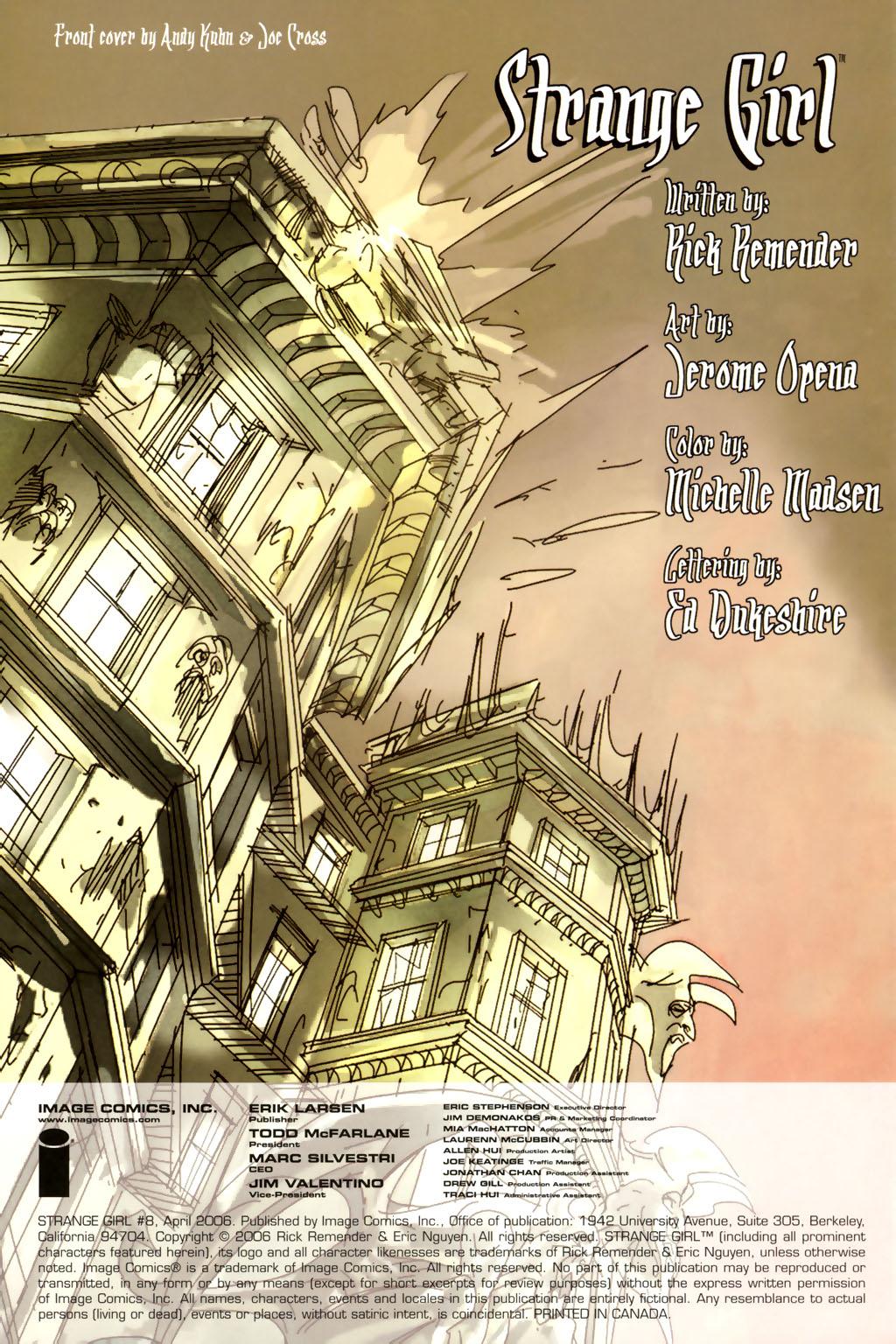 Strange Girl Issue #8 #9 - English 2