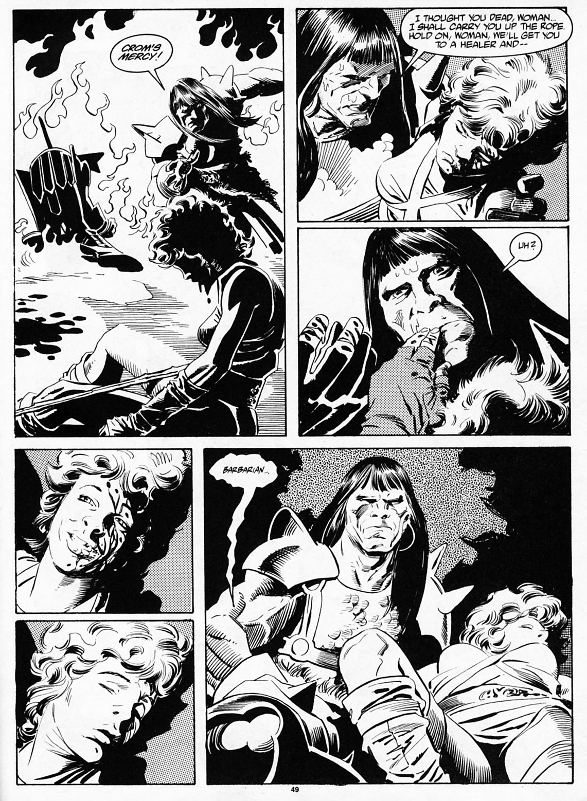 The Savage Sword Of Conan Issue #186 #187 - English 50