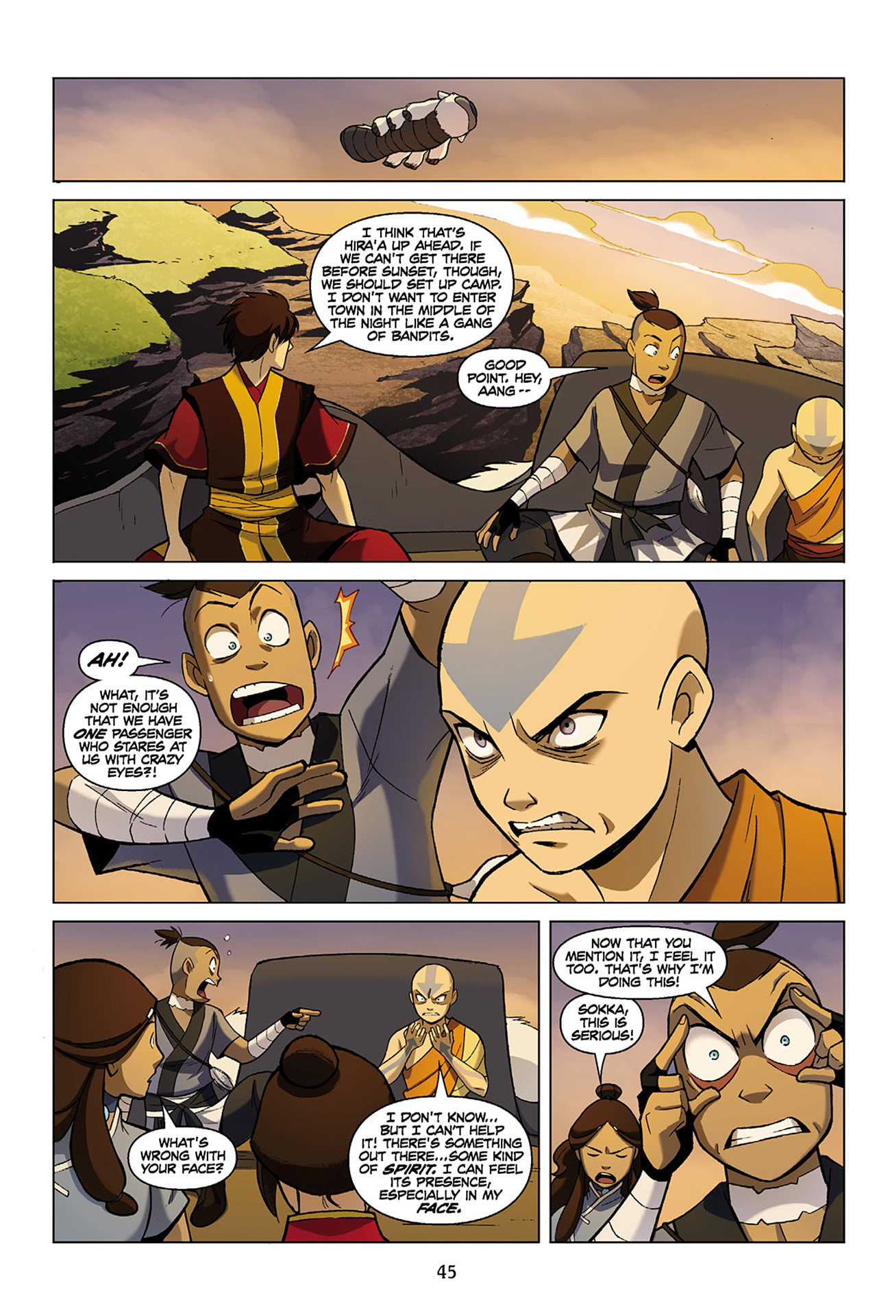 Read online Nickelodeon Avatar: The Last Airbender - The Search comic -  Issue # Part 1 - 46