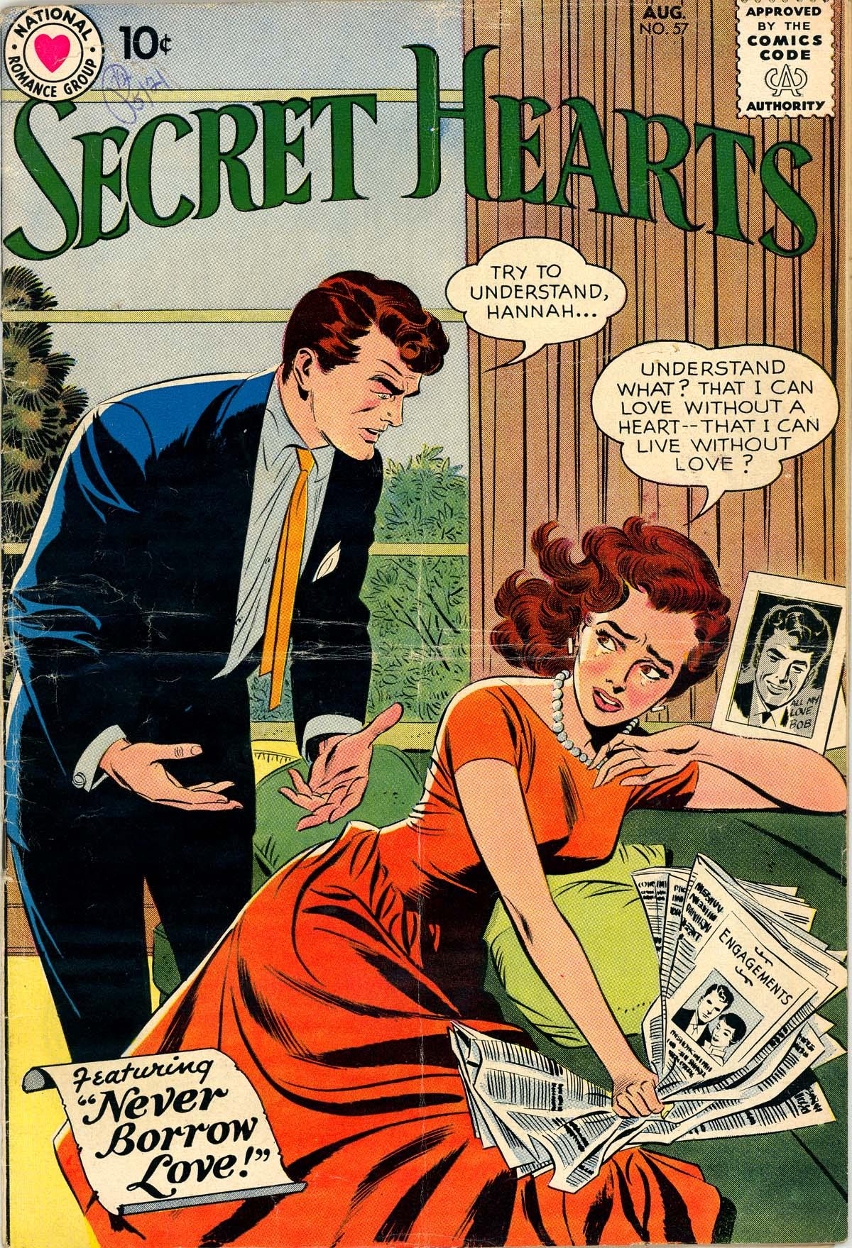 Read online Secret Hearts comic -  Issue #57 - 1