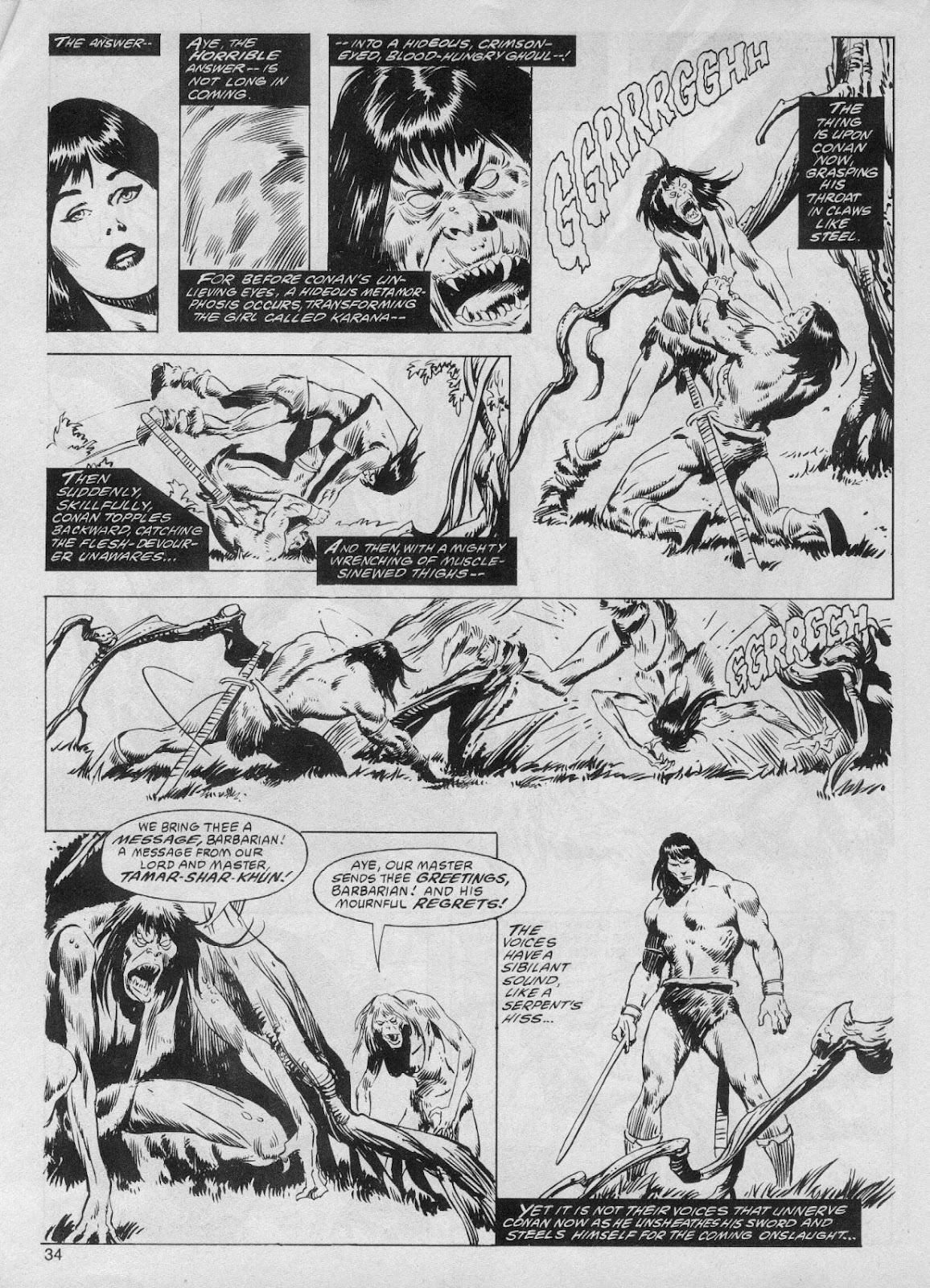 The Savage Sword Of Conan Issue #61 #62 - English 34