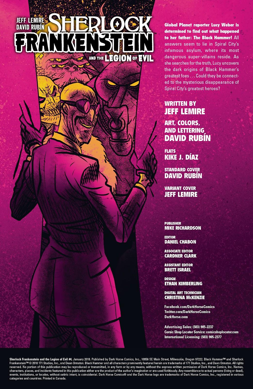 Read online Sherlock Frankenstein and the Legion of Evil comic -  Issue #4 - 2