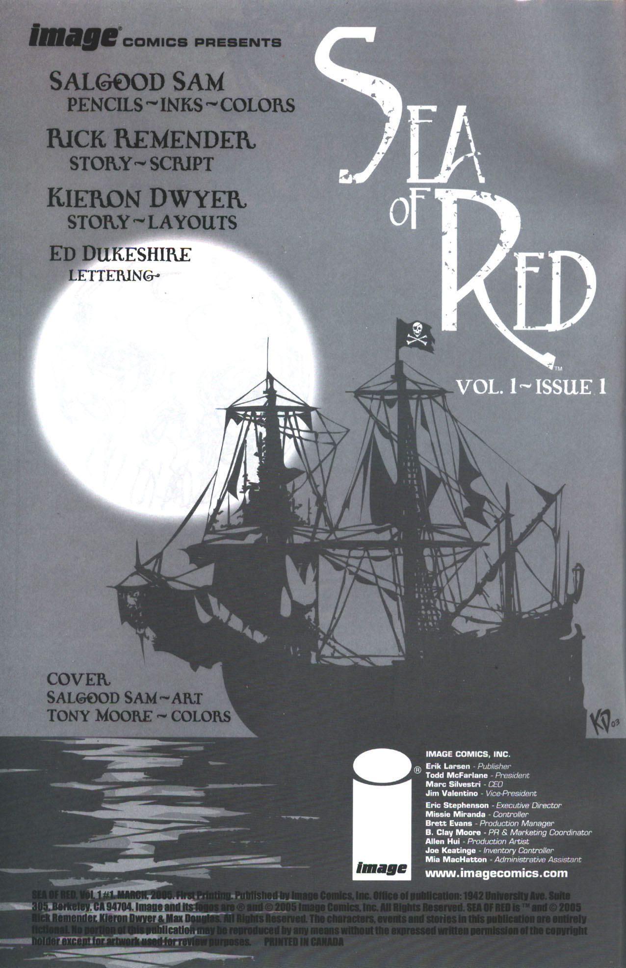 Read online Sea of Red comic -  Issue #1 - 2