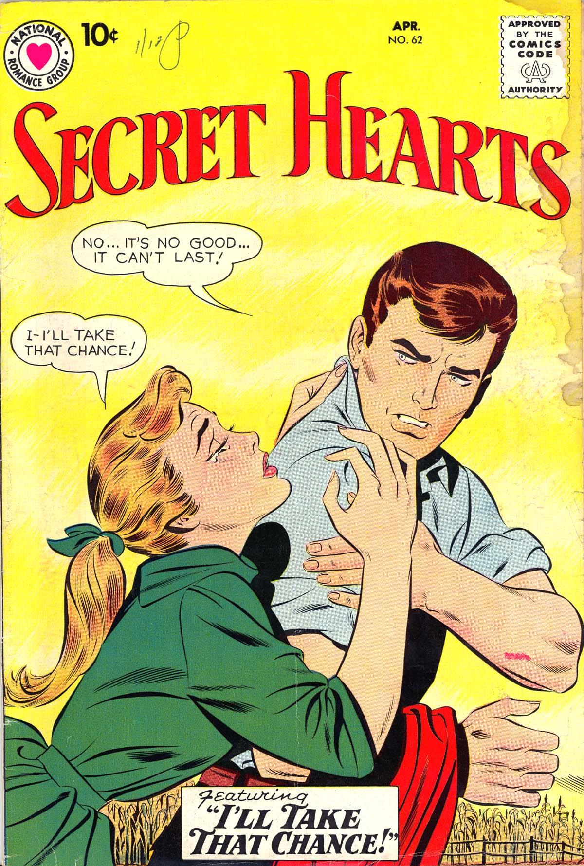 Read online Secret Hearts comic -  Issue #62 - 1