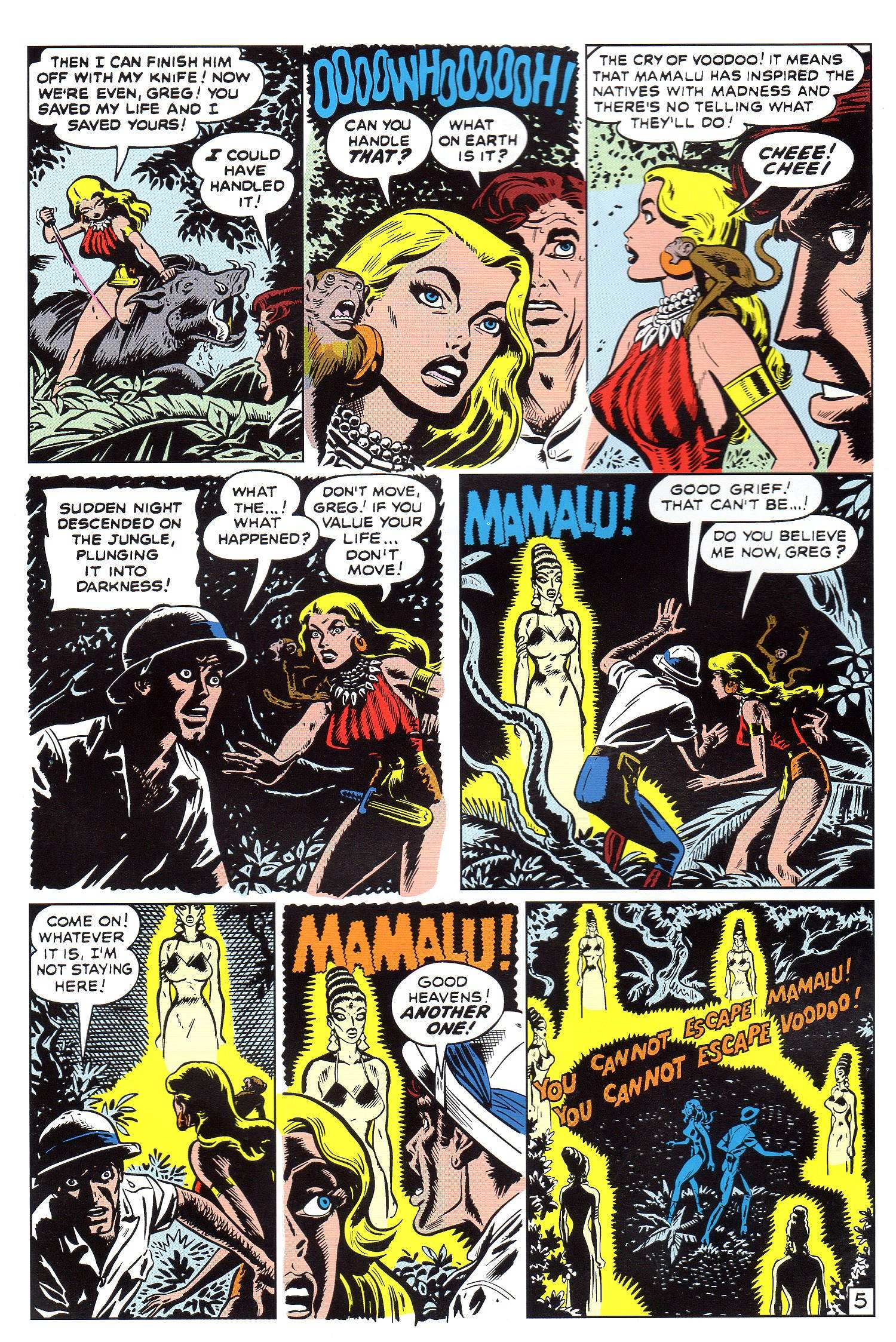 Read online Lorna, The Jungle Queen comic -  Issue #5 - 6