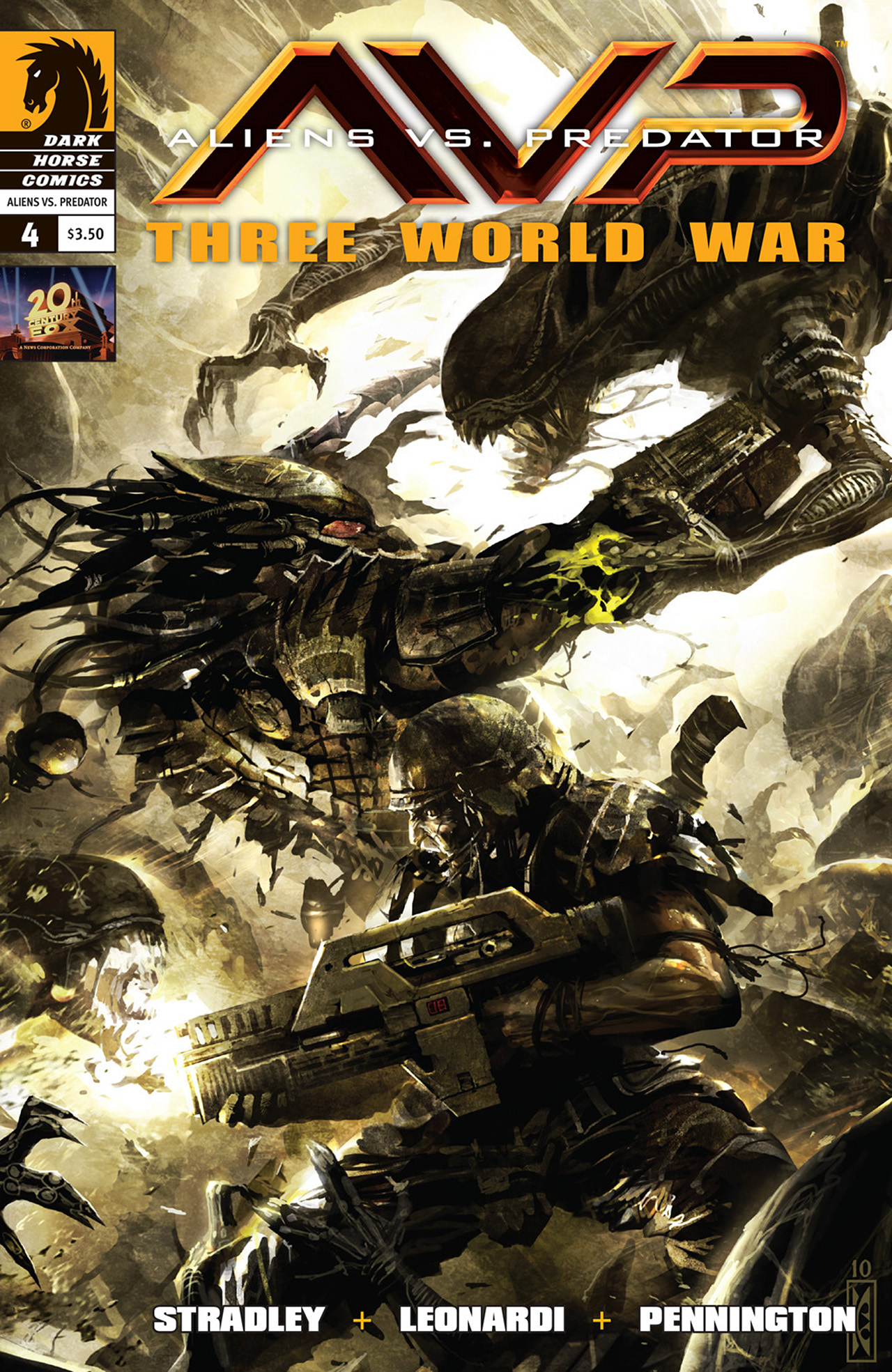 Aliens vs. Predator: Three World War 4 Page 1