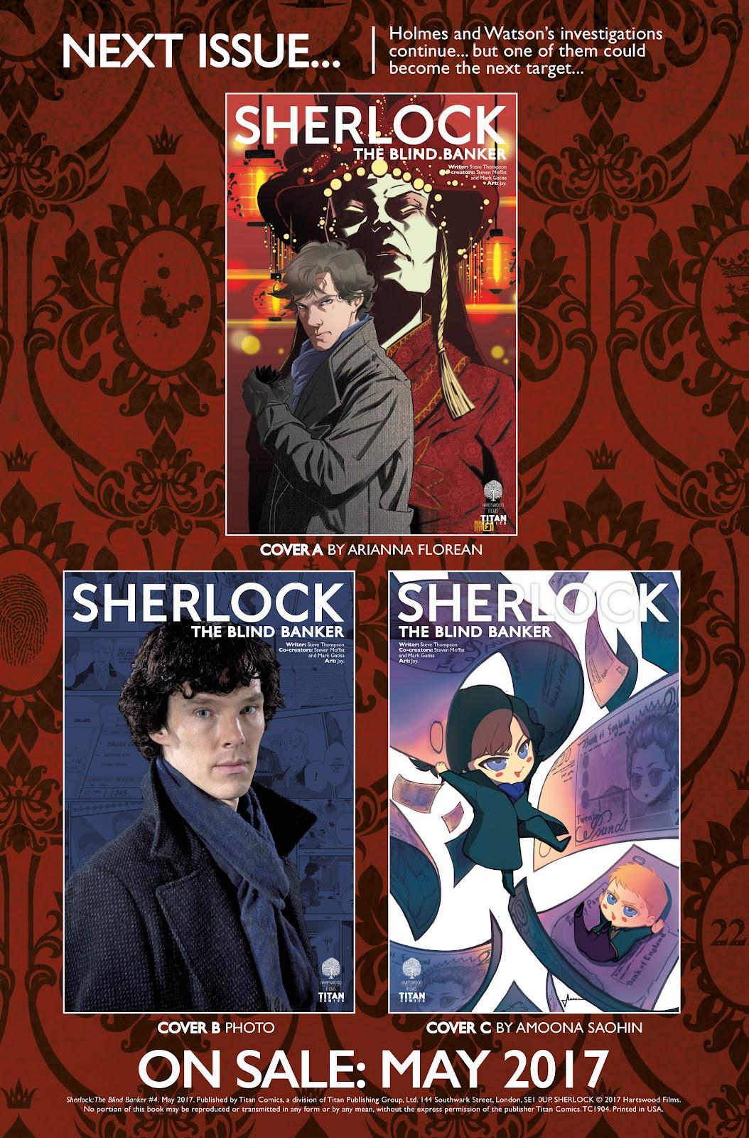 Sherlock: The Blind Banker Issue #4 #4 - English 37