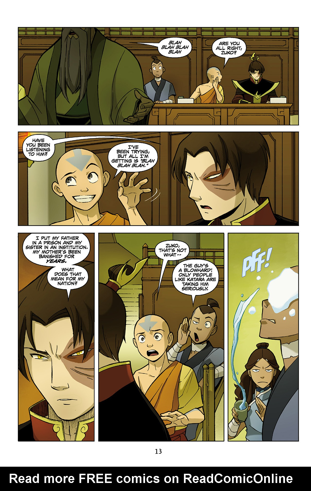Read online Nickelodeon Avatar: The Last Airbender - The Search comic -  Issue # Part 1 - 14