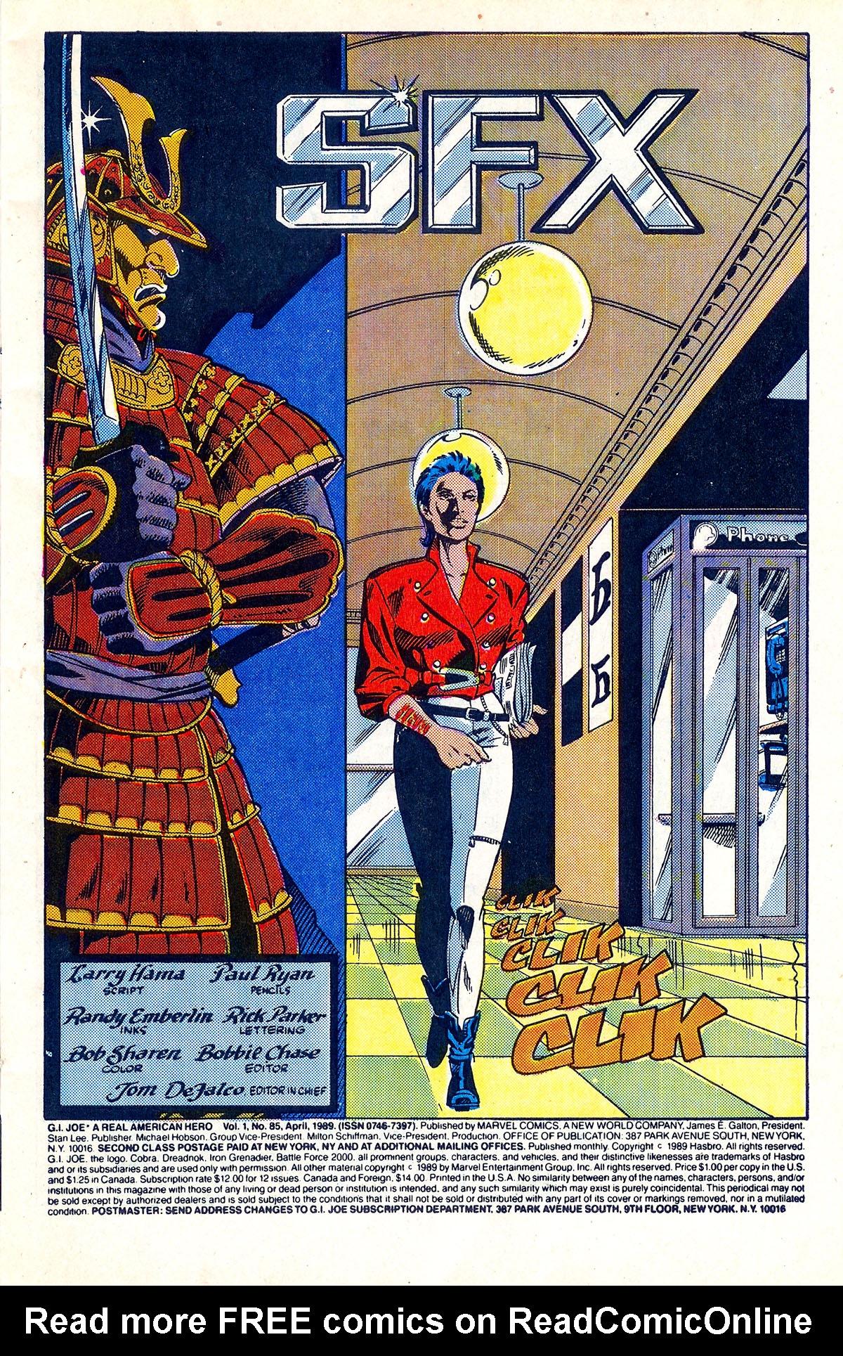 G.I. Joe: A Real American Hero 85 Page 1