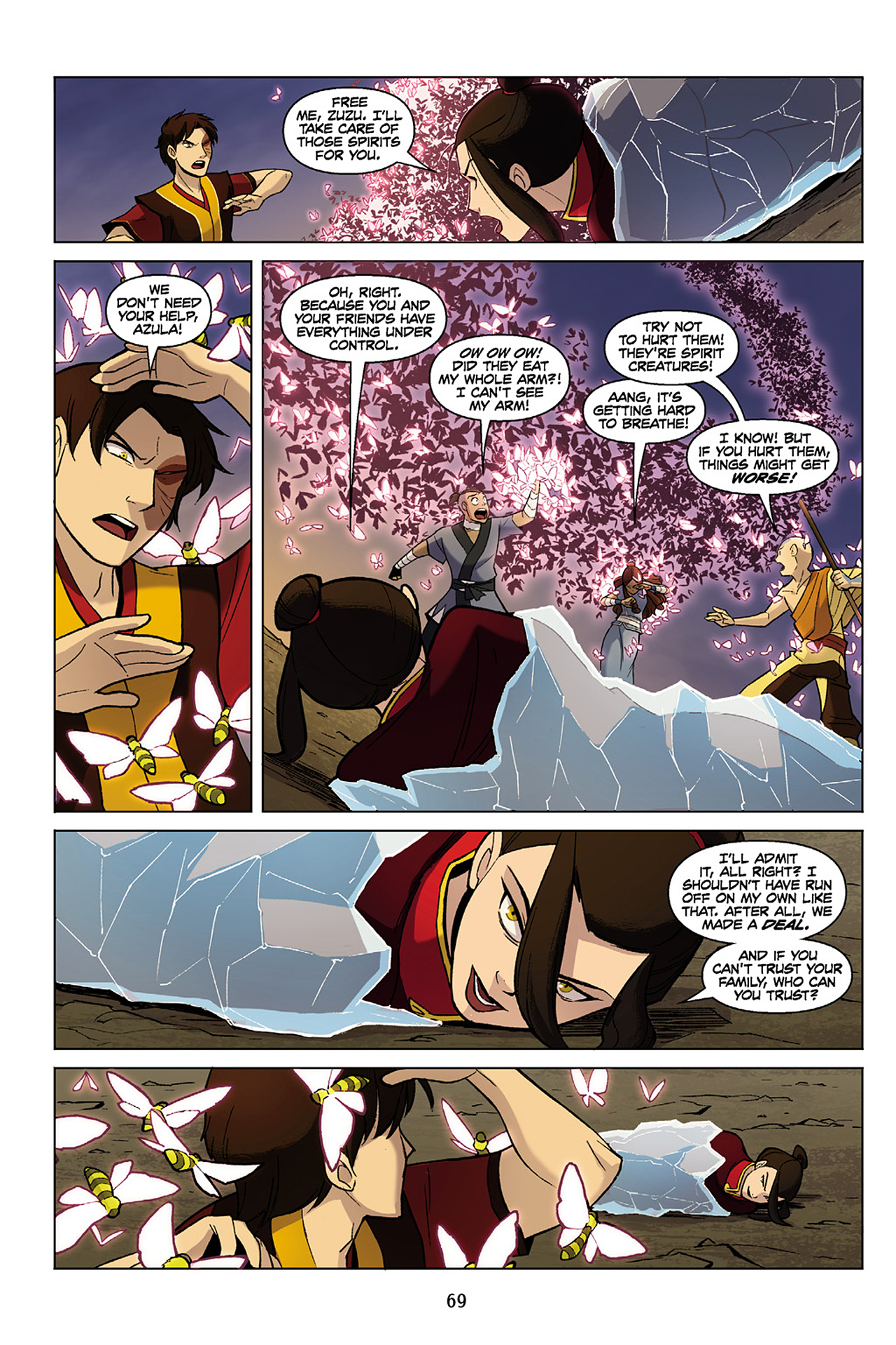 Read online Nickelodeon Avatar: The Last Airbender - The Search comic -  Issue # Part 1 - 70