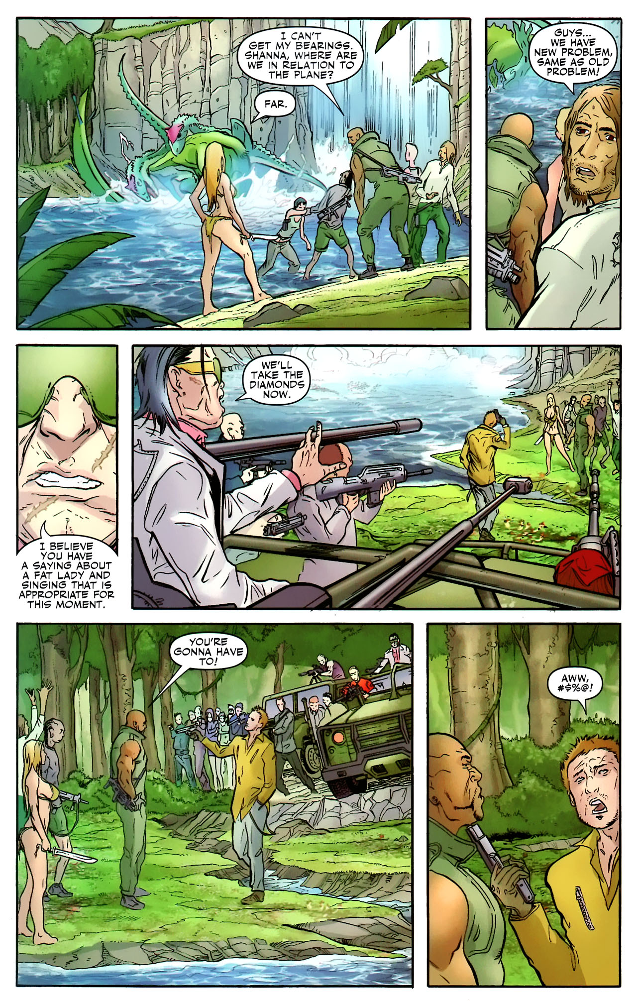 Read online Shanna the She-Devil: Survival of the Fittest comic -  Issue #2 - 7